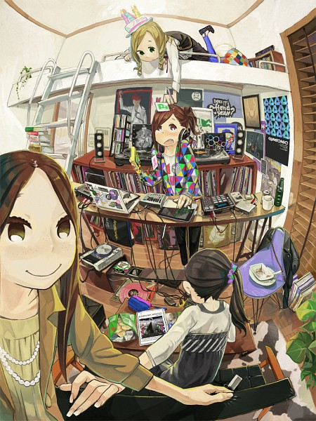Tags: Anime, (Stag), Messy Room, iPad, Game Boy, Fisheye Effect, Poster (Object), Gramophone, Pixiv