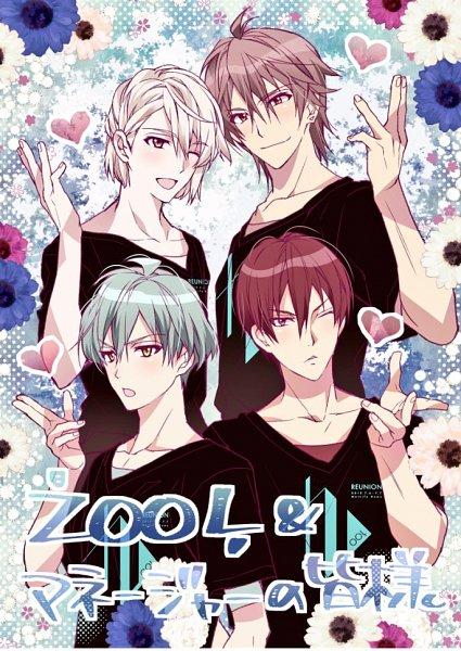 Tags: Anime, Tanemura Arina, IDOLiSH7, Natsume Minami, Mido Torao, Inumaru Touma, Isumi Haruka, Anemone (Flower), Twitter, Official Art, ŹOOĻ