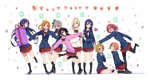 Tags: Anime, Hamayumiba Sou, Love Live!, Toujou Nozomi, Yazawa Niko, Sonoda Umi, Kousaka Honoka, Minami Kotori, Ayase Eri, Nishikino Maki, Hoshizora Rin, Koizumi Hanayo, Mogyutto