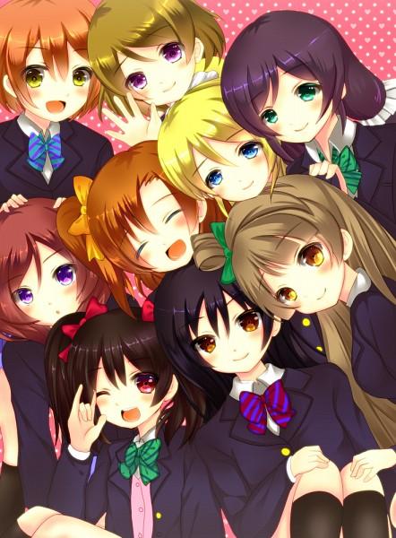 Tags: Anime, Saotome Mirai, Love Live!, Toujou Nozomi, Yazawa Niko, Sonoda Umi, Kousaka Honoka, Minami Kotori, Ayase Eri, Nishikino Maki, Hoshizora Rin, Koizumi Hanayo, I Love You Gesture