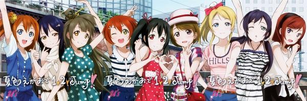 Tags: Anime, Love Live!, Ayase Eri, Nishikino Maki, Hoshizora Rin, Koizumi Hanayo, Toujou Nozomi, Yazawa Niko, Sonoda Umi, Kousaka Honoka, Minami Kotori, Heart Gesture Duo, Official Art