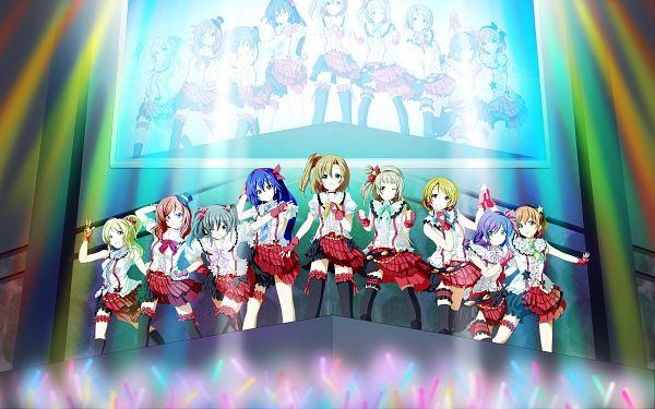 Tags: Anime, Pixiv Id 441289, Love Live!, Kousaka Honoka, Minami Kotori, Ayase Eri, Nishikino Maki, Hoshizora Rin, Koizumi Hanayo, Toujou Nozomi, Yazawa Niko, Sonoda Umi, Stage