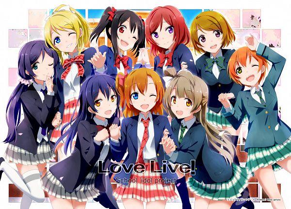 Tags: Anime, Gochou (Comedia80), Love Live!, Sonoda Umi, Kousaka Honoka, Minami Kotori, Ayase Eri, Nishikino Maki, Hoshizora Rin, Koizumi Hanayo, Toujou Nozomi, Yazawa Niko, Pixiv