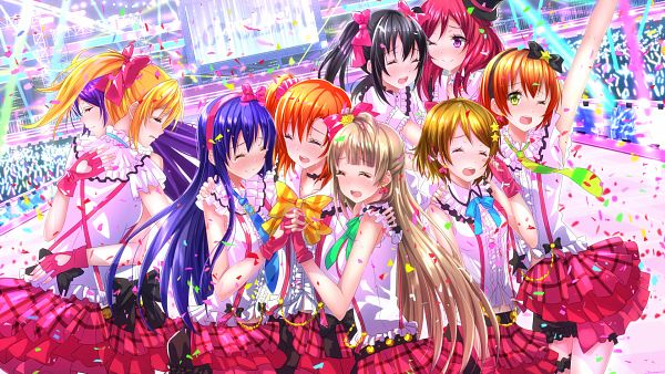 Tags: Anime, Swordsouls, Love Live!, Sonoda Umi, Kousaka Honoka, Minami Kotori, Ayase Eri, Nishikino Maki, Hoshizora Rin, Koizumi Hanayo, Toujou Nozomi, Yazawa Niko, Stage