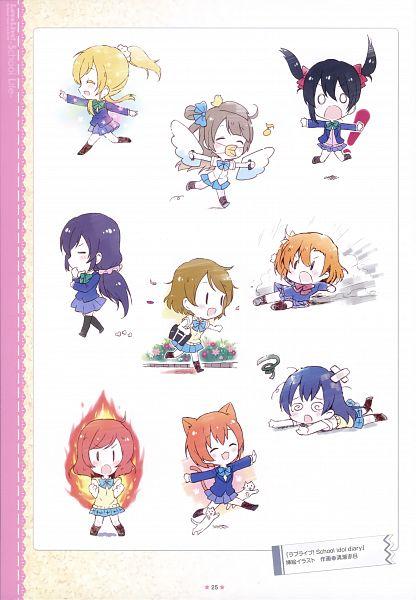 Tags: Anime, Kiyose Akame, Love Live!, Love Live! School Idol ALBUM -School Life-, Kousaka Honoka, Minami Kotori, Ayase Eri, Nishikino Maki, Hoshizora Rin, Koizumi Hanayo, Toujou Nozomi, Yazawa Niko, Sonoda Umi