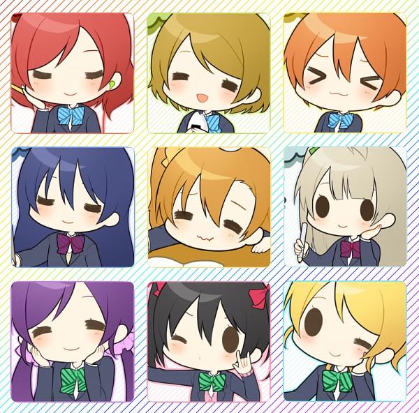 Tags: Anime, Pixiv Id 2409445, Love Live!, Kousaka Honoka, Minami Kotori, Ayase Eri, Nishikino Maki, Hoshizora Rin, Koizumi Hanayo, Toujou Nozomi, Yazawa Niko, Sonoda Umi, Earbuds