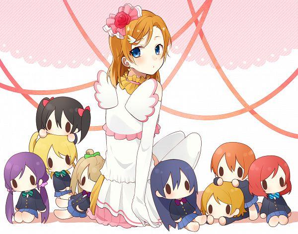 Tags: Anime, Pixiv Id 2409445, Love Live!, Kousaka Honoka, Minami Kotori, Ayase Eri, Nishikino Maki, Hoshizora Rin, Koizumi Hanayo, Toujou Nozomi, Yazawa Niko, Sonoda Umi, PNG Conversion