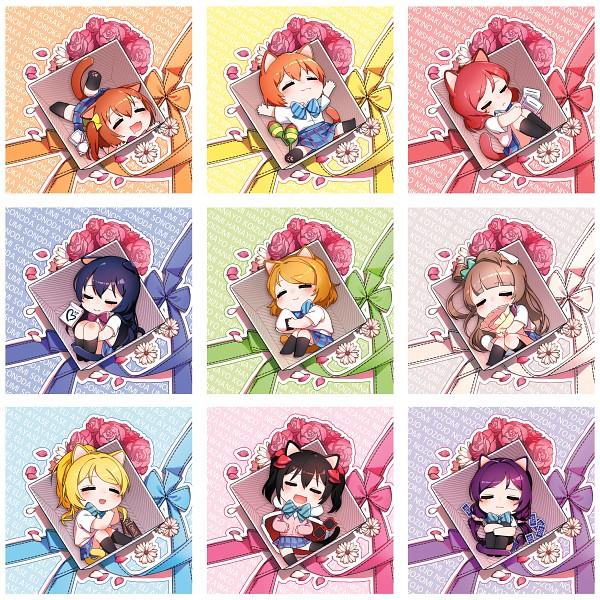Tags: Anime, Pixiv Id 1777174, Sonoda Umi, Yazawa Niko, Kousaka Honoka, Nishikino Maki, Toujou Nozomi, Fanart, Pixiv, μ's