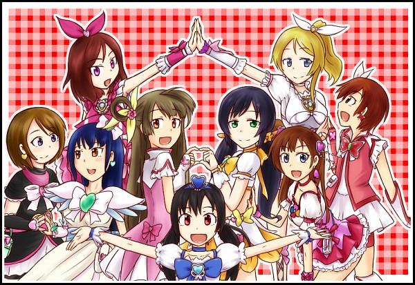 Tags: Anime, Pixiv Id 20875, Love Live!, Nishikino Maki, Sonoda Umi, Koizumi Hanayo, Minami Kotori, Yazawa Niko, Ayase Eri, Kousaka Honoka, Hoshizora Rin, Toujou Nozomi, High Five