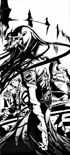 Tags: Anime, Akira Mutsuki, .hack//G.U., .hack//Cell, Gaspard (.hack//G.U.), Silabus, Midori (.hack//Cell), Waterfall, Manga Page, Official Art, Scan