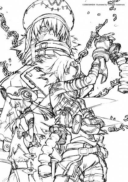 Tags: Anime, .hack//G.U., Atoli, Azure Flame Kite, Haseo, Twin Blade (.hack), Sketch