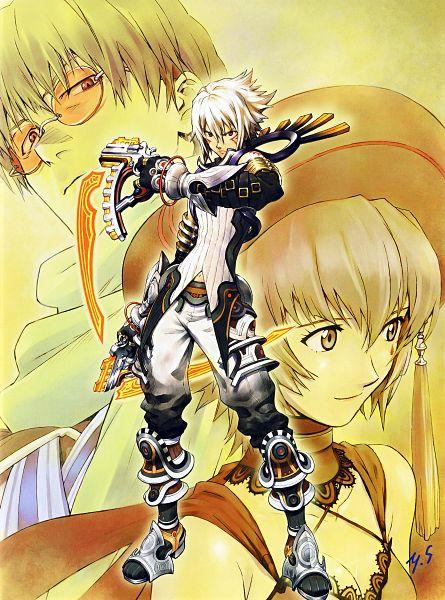 Tags: Anime, Yoshiyuki Sadamoto, Bandai Visual, .hack//Roots, Carmine (Artbook), .hack//G.U., Ovan, Haseo, Shino Nanao, Harvest Cleric, Xth Form, Official Art, Scan