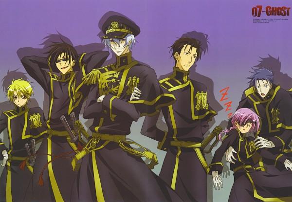 Tags: Anime, Ban Yukiko, 07-ghost, Haruse (07-ghost), Kuroyuri (07-ghost), Konatsu Warren, Hyuuga (07-ghost), Katsuragi (07-ghost), Ayanami (07-ghost), Zzz, Official Art