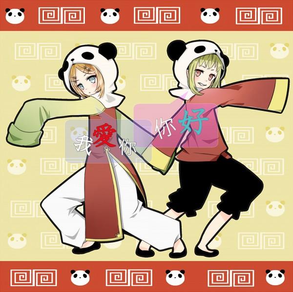 Tags: Anime, Pixiv Id 1908148, VOCALOID, GUMI, Kagamine Rin, Bear Hood, Pandamimi, Panda Hat, Bear Hat, Panda Hood, Fanart, Pixiv, 1-2 Fanclub