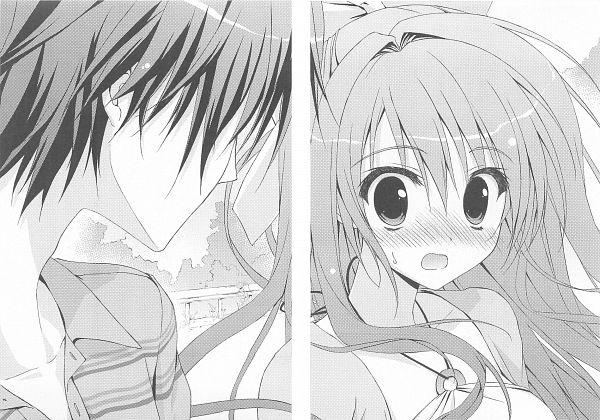 Tags: Anime, Ryohka, 101 Banme no Hyaku Monogatari, Ichimonji Hayate, Nitou Kirika, Official Art, Scan, Novel Illustration