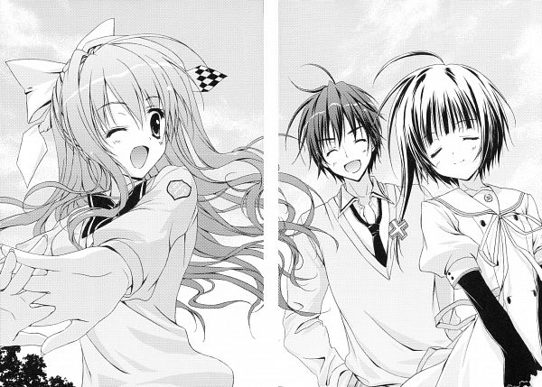 Tags: Anime, Ryohka, 101 Banme no Hyaku Monogatari, Nitou Kirika, Ichinoe Mizue, Ichimonji Hayate, Scan, Novel Illustration, Official Art
