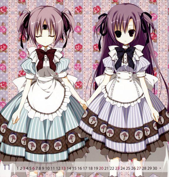 Tags: Anime, Inugami Kira, 13 (Series), 2011 Mini Calender, Amene (13), Mitsuki (13), Calendar 2011, Pixiv