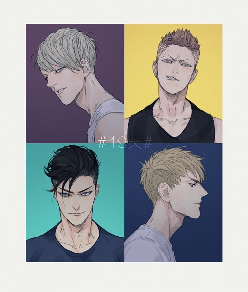 Tags: Anime, Pixiv Id 14112027, 19 Days, He Tian, Zhan Zheng Xi, Jian Yi, Mo Guan Shan, Fanart