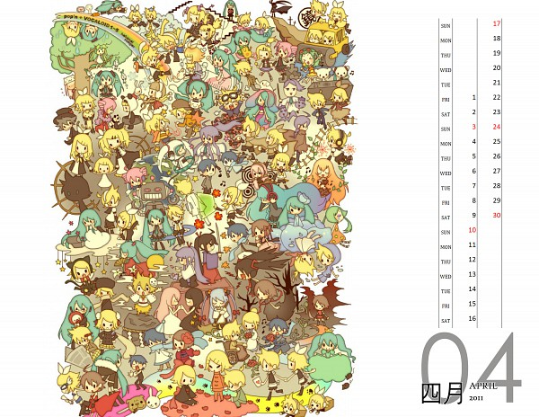 2011 Touhou + Vocaloid Calendar - Calendar 2011