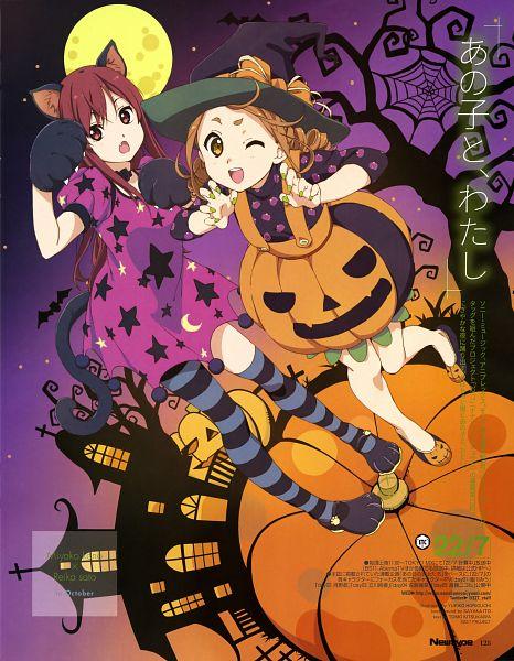 Tags: Anime, Horiguchi Yukiko, 22/7, Kouno Miyako, Satou Reika, Scan, Newtype Magazine (Source), Official Art, Magazine (Source)