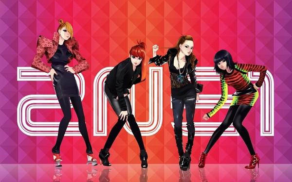 Tags: Anime, Cl (2NE1), Park Bom (2NE1), Sandara Park (2NE1), Minzy (2NE1), K-pop, 2NE1