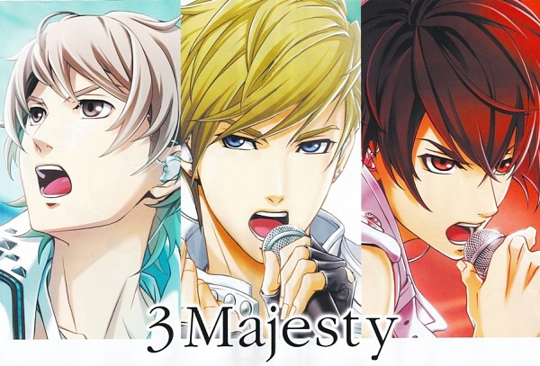Tags: Anime, KONAMI, Tokimeki Restaurant, Tsuji Kaito, Kirishima Tsukasa, Otowa Shinnosuke, Official Art, 3 Majesty