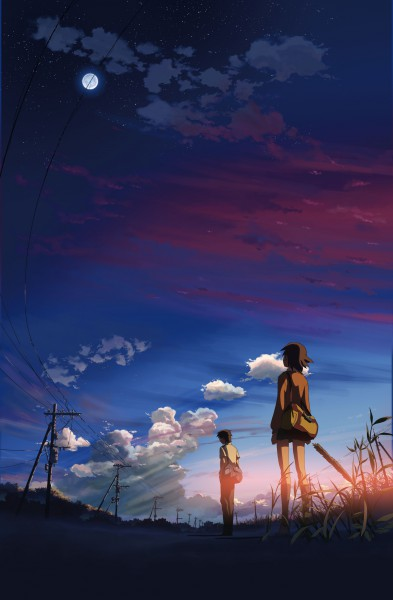 Tags: Anime, Makoto Shinkai, 5 Centimeters Per Second, Mobile Wallpaper