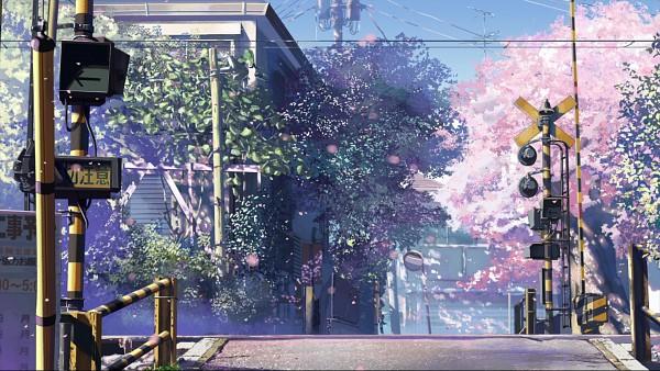 Tags: Anime, Makoto Shinkai, 5 Centimeters Per Second, Utility Pole, No Character, Traffic Light, Facebook Cover, Wallpaper, HD Wallpaper