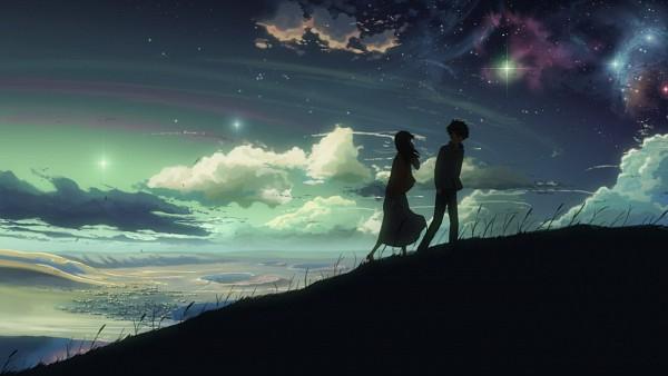 Tags: Anime, Makoto Shinkai, 5 Centimeters Per Second, Shinohara Akari, Toono Takaki, Facebook Cover, Screenshot, Wallpaper