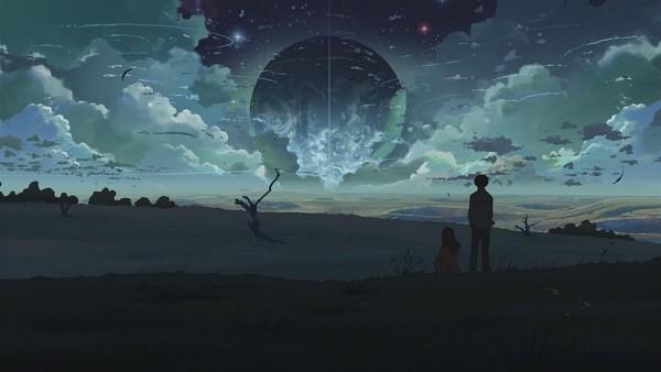 Tags: Anime, Makoto Shinkai, 5 Centimeters Per Second, Shinohara Akari, Toono Takaki, HD Wallpaper, Facebook Cover, Wallpaper