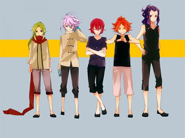 Tags: Anime, Donguri-usagi, Inazuma Eleven, Saginuma Osamu, Midorikawa Ryuuji, Kiyama Hiroto, Suzuno Fuusuke, Nagumo Haruya, 5top, 3top