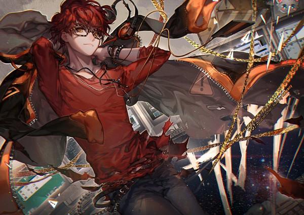 Tags: Anime, kawacy, Mystic Messenger, 707 (Mystic Messenger), Fanart From DeviantART, Fanart From Pixiv, deviantART, Pixiv, Fanart