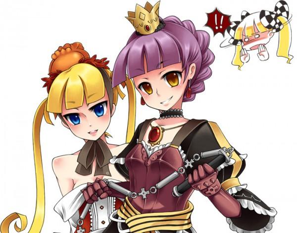 Tags: Anime, Pixiv Id 113619, 7th Dragon, Princess (7th Dragon), Knight (7th Dragon), Brown