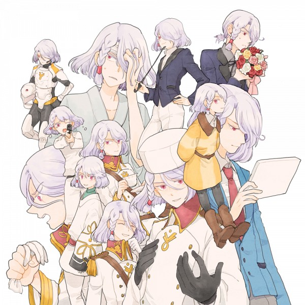 Tags: Anime, Pixiv Id 2517942, Kakumeiki Valvrave, A-Drei, Tablet, Bandaged Head, Pixiv