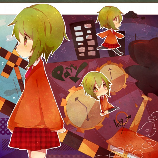 Tags: Anime, Miyuko, VOCALOID, GUMI, Star Girl and the Illusory Musical Paradise, A Runaway Boy and a Lost Girl, Pixiv