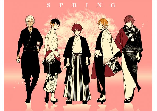 Tags: Anime, Pixiv Id 1148229, A3!, Citron (A3!), Sakuma Sakuya, Usui Masumi, Chigasaki Itaru, Minagi Tsuzuru, Fanart From Pixiv, Pixiv, Fanart, Spring Troupe