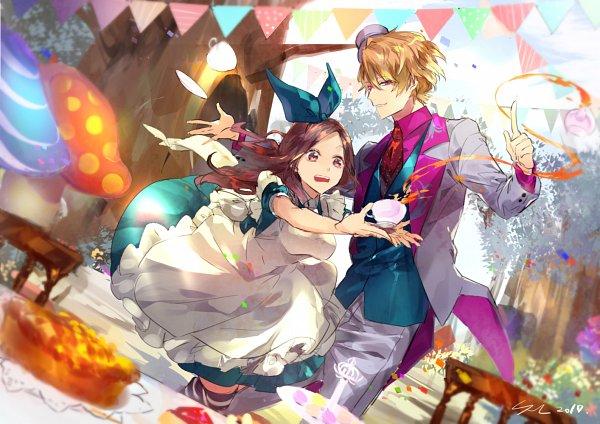 Tags: Anime, SUZ, A3!, Tachibana Izumi, Chigasaki Itaru, Alice in Wonderland (Parody)