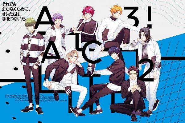 Tags: Anime, Fujiwara Ryo, LIBER ENTERTAINMENT, A3!, Utsuki Chikage, Sumeragi Tenma, Guy (A3!), Settsu Banri, Tsukioka Tsumugi, Izumida Azami, Sakuma Sakuya, Hyoudou Kumon, Official Art