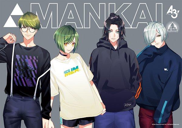 Tags: Anime, Fujiwara Ryo, LIBER ENTERTAINMENT, A3!, Rurikawa Yuki, Izumida Azami, Utsuki Chikage, Mikage Hisoka, Text: Brand Name, Official Art, Product Advertising