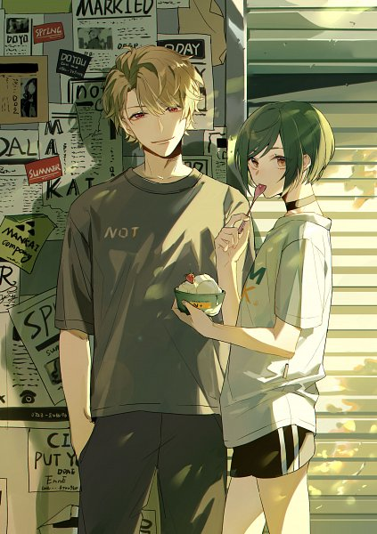 Tags: Anime, Pixiv Id 13695413, A3!, Chigasaki Itaru, Rurikawa Yuki, Pixiv