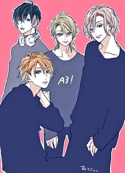 Tags: Anime, Morishita Suu, A3!, Settsu Banri, Miyoshi Kazunari, Usui Masumi, Chigasaki Itaru, Twitter, Fanart