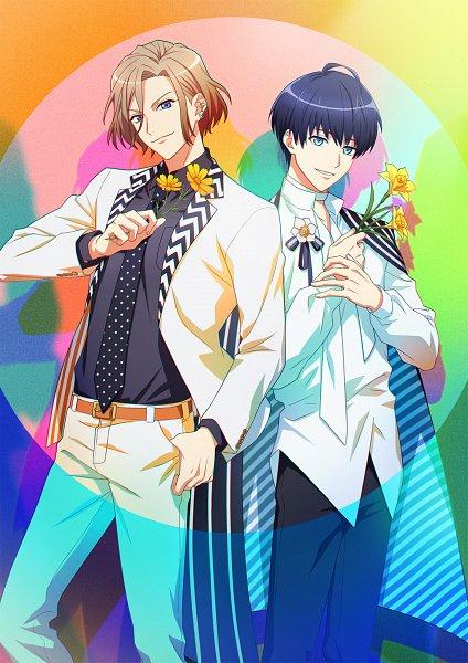 Tags: Anime, Komatsu Mariko, Studio 3Hz, P.A. Works, A3!, Tsukioka Tsumugi, Settsu Banri, Orchid, Key Visual, Official Art