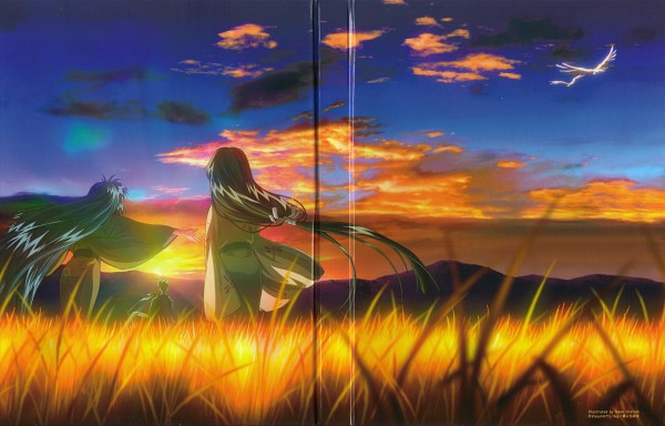 Tags: Anime, Aratani Tomoe, KEY (Studio), Kyoto Animation, AIR, Uraha, Ryuuya, Kannabi no Mikoto, Edited, Scan, DVD (Source)