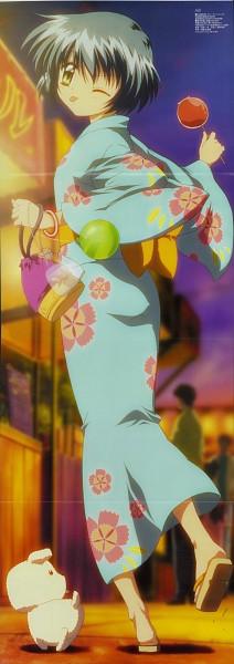 Tags: Anime, Sakamoto Kazuya, Kyoto Animation, KEY (Studio), AIR, Potato (AIR), Kirishima Kano, Candy Apple, Scan, DVD (Source), Official Art
