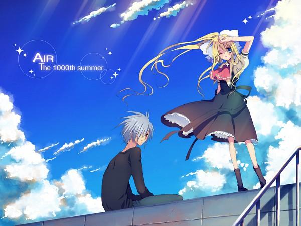 Tags: Anime, Rugo, AIR, Kunisaki Yukito, Kamio Misuzu, Pixiv