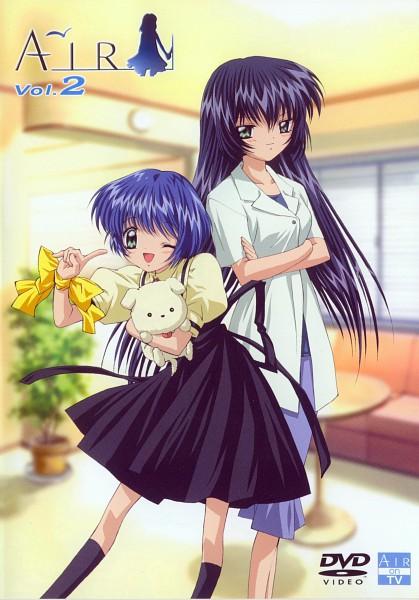 Tags: Anime, Kyoto Animation, KEY (Studio), AIR, Kirishima Hijiri, Kirishima Kano, Potato (AIR), Official Art, Scan