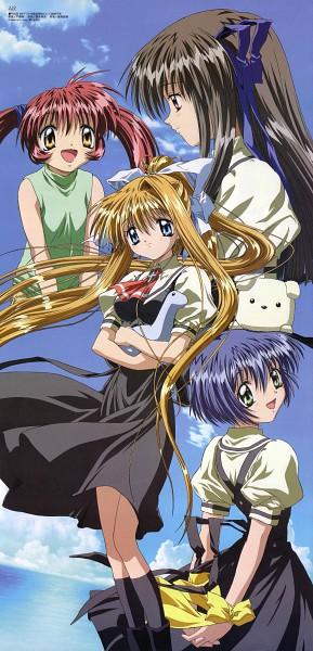 Tags: Anime, Kadowaki Satoshi, KEY (Studio), Kyoto Animation, Megami #53 2004-10, AIR, Tohno Minagi, Kamio Misuzu, Kirishima Kano, Potato (AIR), Michiru (AIR), Official Art, Magazine (Source)