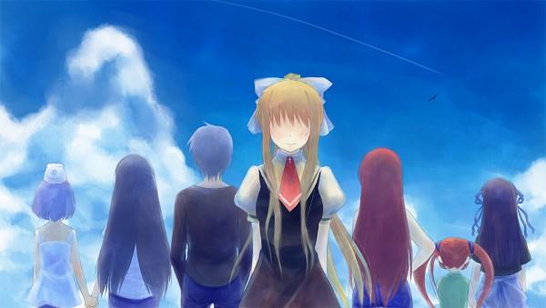 Tags: Anime, KEY (Studio), AIR, Tohno Minagi, Kirishima Hijiri, Kamio Misuzu, Michiru (AIR), Kamio Haruko, Kunisaki Yukito, Kirishima Kano, Facebook Cover