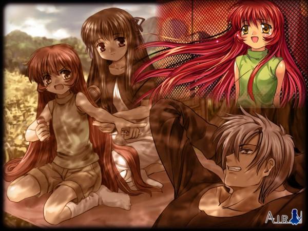 Tags: Anime, Moonknives, AIR, Tohno Minagi, Michiru (AIR), Kunisaki Yukito, Wallpaper