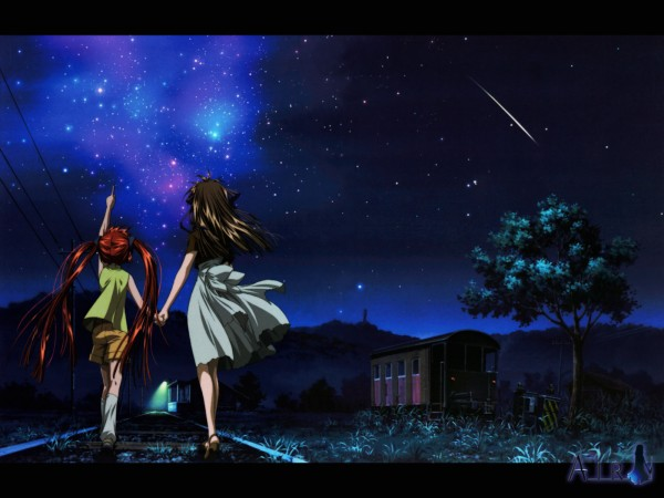 Tags: Anime, Aratani Tomoe, Kyoto Animation, AIR, Michiru (AIR), Tohno Minagi, Official Art, Wallpaper